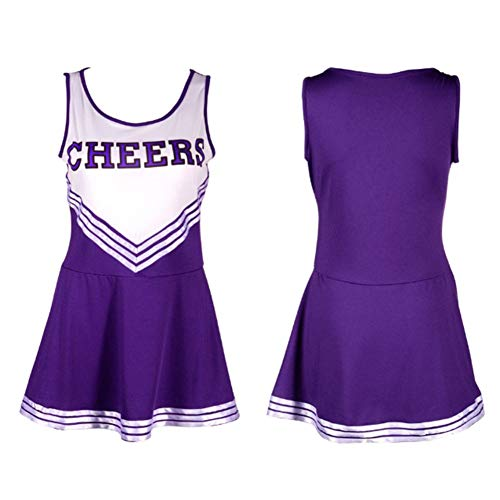 Leezo Sexy Baby Girl Bühnenauftritt Weibliche Schulmädchen Musik Minikleid Cheerleader Uniformen, Squad Cheerleader Kostüm High School Kostüm Outfit mit (Girl Squad Kostüm)