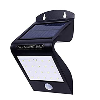 Aoxdi 2X Solar Senor Wall Light, Solar Lights Outdoor, 22 SMD LED Motion Sensor Waterproof Night Lighting, Bright Outside Security Light Solar Powered Spotlight