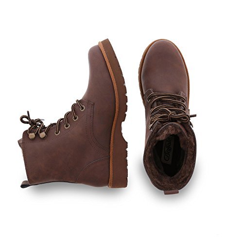 Buffalo London 11855 Action Nubuck, Stivali Donna Marrone (Brown 01)