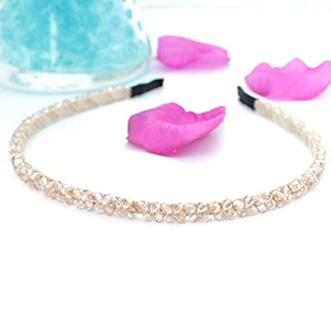 Headbands Hairbands for Women Baby Girls Tiara Alice Champagne Gold Rhinestones Crystal by Trimming Shop®
