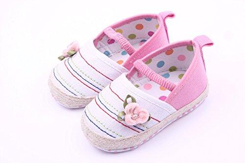 Bigood Liebe Blüte Baby Mädchen Schuh Lauflernschuhe Krabbelschuhe Pink