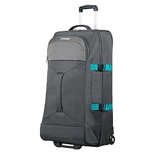 AMERICAN TOURISTER Road Quest – 2 Compartments Wheeled Duffle L Bolsa de Viaje, 80 cm, 88 Liters, Gris (Grey/Turquoise)