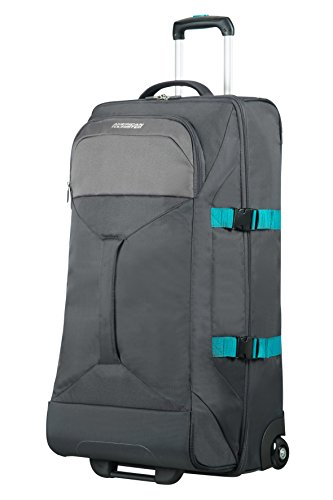 Road Duffle (AMERICAN TOURISTER Road Quest - 2 Compartments Wheeled Duffle L Travel Duffle, 80 cm, 88 liters, Grey (Grey/turquoise))