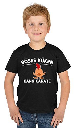 Kinder T-Shirt mit Lustigem Oster Motiv - Osterhasen Kinder-Shirt : Böses Küken Kann Karate - Witziges Tshirt Fürs Osternest Jungen/Mädchen Gr: XL= 158-164