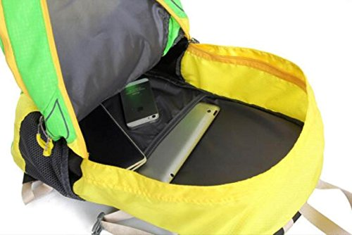 Outdoor Wasserdicht Klettern Rucksack Multifunktional Wandern Sport Tasche Yellow