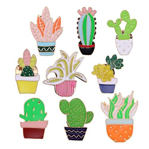Fenical brosche castus Taste Sommer Pflanzen pins lustige Kaktus brosche pins für Frauen mädchen 18 stücke (gelegentlicher Stil) - Hawaii-taste
