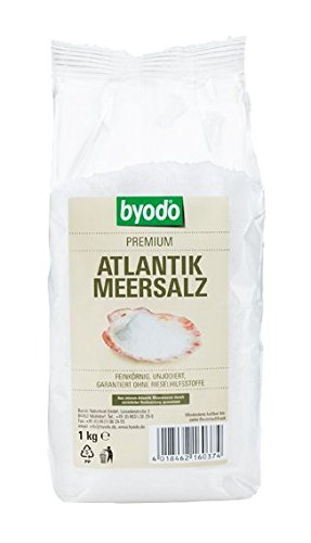 feines meersalz Byodo Atlantik Meersalz, feinkörnig, 6er Pack (6 x 1 kg)