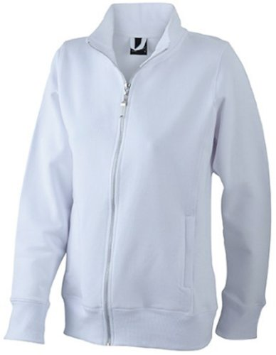 J&N - klassische Damen Sweater-Jacke (JN052) Weiß