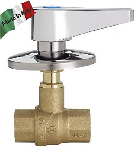 Válvula integrado cromado FF 1/2con palanca Made in Italy