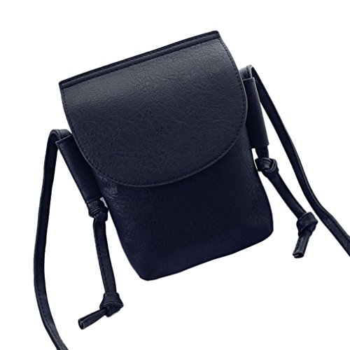 Transer PU leather Handbags & Single Shoulder Bags Women Zipper Bag Girls Hand Bag, Borsa a spalla donna Khaki 14cm(L)*21(H)*4cm(W) Black