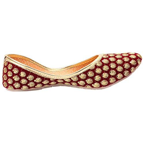 Red Choice Collection Red Embroidered Velvet Juti For Women and Girls (RC072_9)