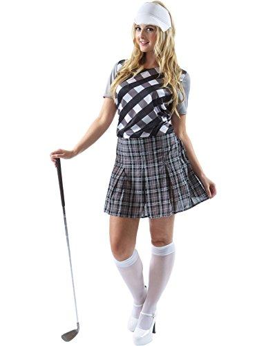 Kostüm Damen Golfspieler (Erwachsene Damen Frauen Golfspieler Golf Huhn Kostüm hut Karneval)
