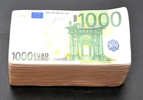 100 EURO SPARDOSE € 1000 Keramik / Porzellan Geld Stapel