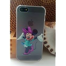 Cute Kids Disney duro Claro Transparente TPU Case Back, (Minie Mouse) iPhone 4/4S