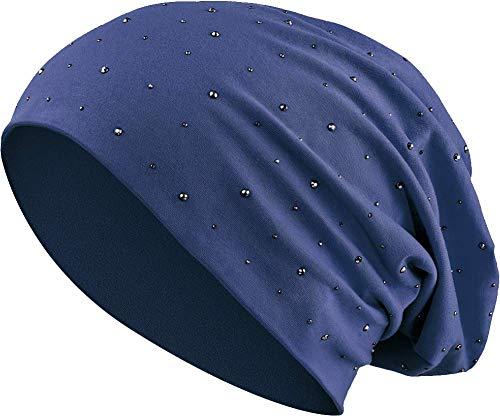 Glatze Mütze Mit Haaren - Jersey Baumwolle elastisches Long Slouch Beanie
