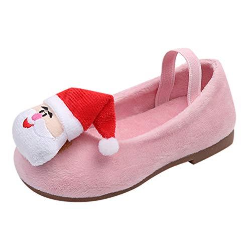 YanHoo Zapatos niños Papá Noel Infantil otoño Invierno