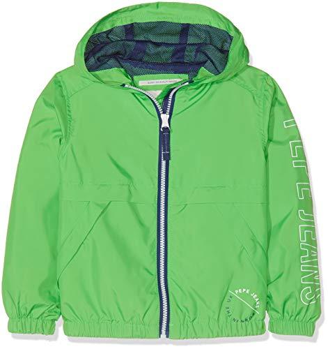 Pepe jeans axel giacca, verde (bright green 633), 9-10 anni (taglia produttore: 10) bambino