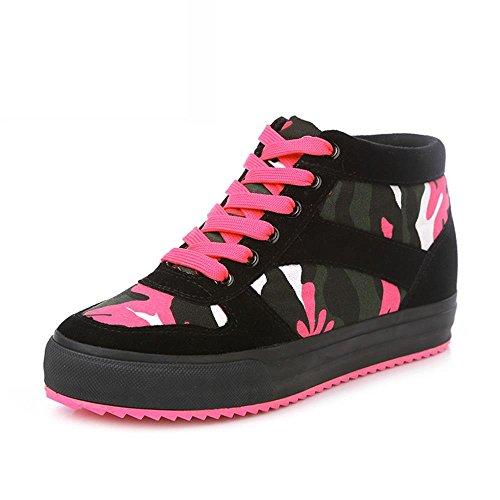 ALUK- versione primavera e l'autunno coreana di alta scarpe di tela strada per aiutare scarpe casual ( colore : Nero , dimensioni : 35 )
