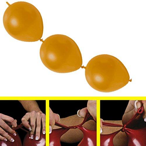 partydiscount24 100 x Girlandenballons Ø 30 cm | Freie Farbwahl | 19 Ballon Farben Gold Metallic (Glänzend)