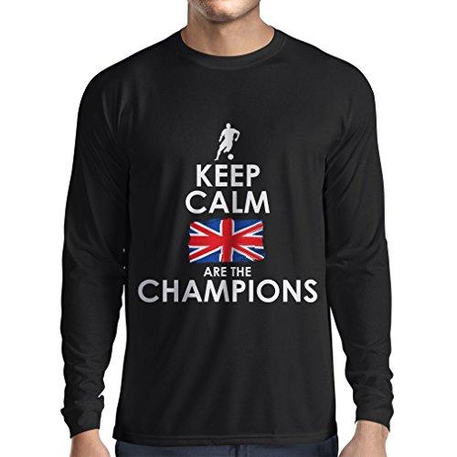 N4507L Camiseta de manga larga North Irish are the champions ! (XX-Large Negro Multicolor)