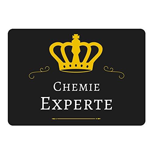 Mousepad Chemie Experte schwarz