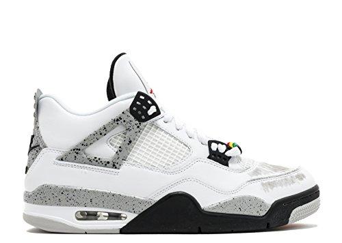 Foto de Nike Air Jordan 4 Retro OG, Zapatillas de Baloncesto para Hombre, Blanco (White/Fire Red-Black-Tech Grey), 42 1/2 EU