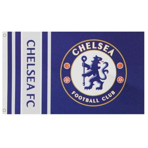 Chelsea Football Club Official Striped Large Flag Big Crest Game Fan Banner