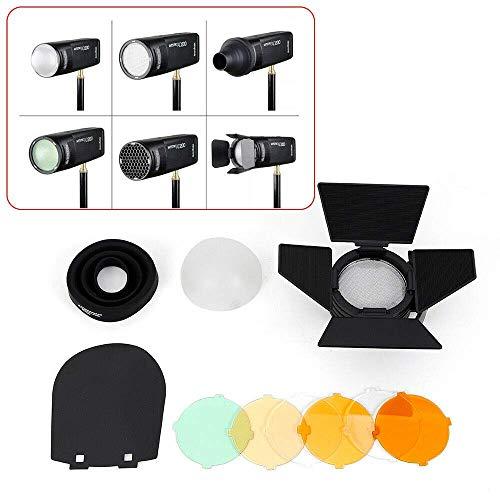 HYLH Blitzkopf ABS Runder Blitzkopf Softlampen-Zubehörsatz AK-R1 für Godox H200R-Blitzgeräte