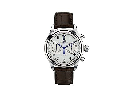 Montre Automatique Ball Trainmaster Cannonball, Chronographe, CM1052D-L1J-WH