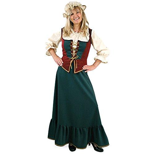 """Damenkostüm """"Marktfrau"""", Mittelalterkostüm, Burgbewohner, 3-tlg. mit Mütze, Rock, Weste und Bluse (44)"""