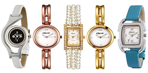 Oleva Deginer Multicolor Analog Watch Combo For Women Pack Of 5 OIWC-45