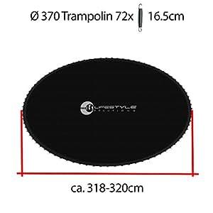 L-T-370 - Tapis de Saut - Pour le Trampoline 3.70 m - Pour le 72 Ressort - Diametre ca. 318cm