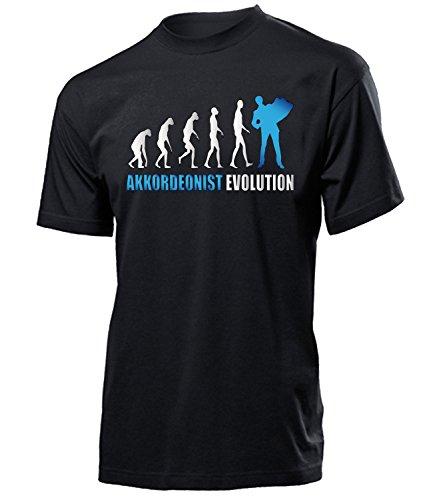 AKKORDEONIST Evolution 4587 Herren T-Shirt (H-SW-Weiss-Blau) Gr. XXL