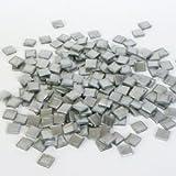 RAYHER 14543610 Acryl-Mosaik 1 x 1 cm metallic, SB-box, circa 205 Stück, 50 g, brillant silber