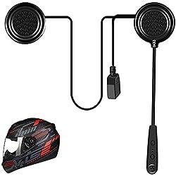 Ejeas E1 Casque de Moto Bluetooth 4.1 Casque DSP Contrôle du Bruit 12H Temps de Lecture BT Ecouteurs Haut-parleurs Casque Communication