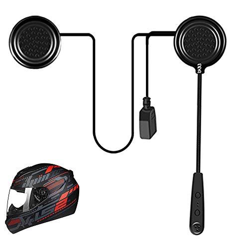 EJEAS E1 - Cuffie Bluetooth 4.1 per casco da moto, con controllo del rumore DSP, 12 ore di riproduzione, Bluetooth e altoparlant