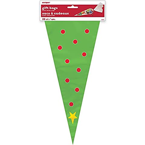 Christmas Tree Cone Cellophane Bags, Pack of 20
