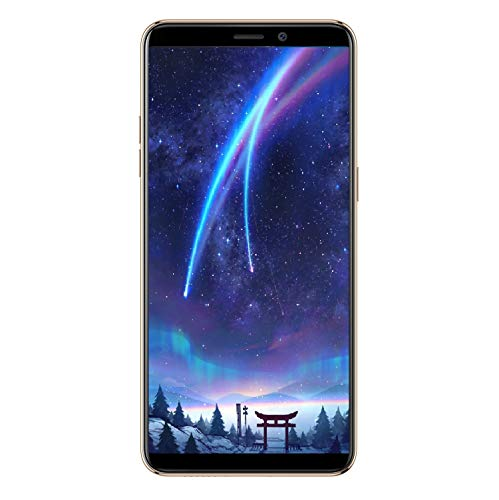 Ulefone P6000 Plus 2019 Android 9.0 Handy ohne Vertrag, 6 Zoll HD+ Display 3GB RAM 32 GB ROM, 6350mAh Akku, OTG, 13MP+5MP Dual Kamera Dual SIM 4G Smartphone, Face ID Fingerabdruck - Gold
