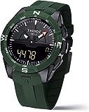 Tissot Herren-Armbanduhr 45mm Armband Silikon Grün Quarz Analog T1104204705100