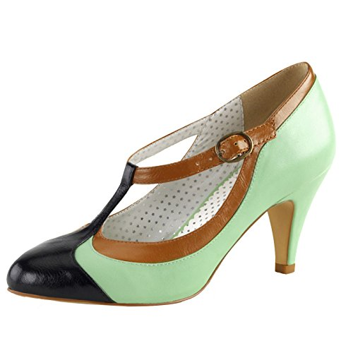 Pin Up Couture - Retro Foodwear - Pantofole Donna , verde