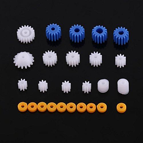 26pcs Plastikspindel Schnecken Zahnrad Satz Sortierte Plastikwelle für Flugzeug Auto Modell DIY Installationssatz 2MM / 2.3MM / 3MM / 3.17MM / 4MM