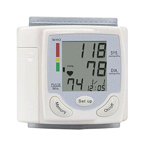 TOOGOO 1pc Handgelenk Blutdruckmessgeraet Gesundheitsmonitor Blutdruckmessung Blutdruckmessgeraet erkennt Blutdruck Herzfrequenz und Herzschlag