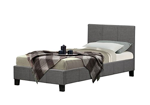 Birlea Berlin Bed - Fabric, Grey, Single