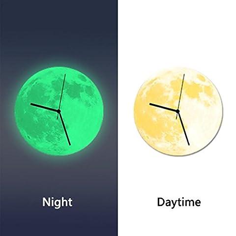Wall Clocks,Clode® 3D Creative Luminous Wall Clock The Earth Acrylic