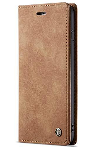 Handyhülle, Premium Leder Flip Schutzhülle Schlanke Brieftasche Hülle Flip Case Handytasche Lederhülle mit Kartenfach Etui Tasche Cover für iPhone 7/8, 7/8Plus (Brieftasche Frauen Iphone)