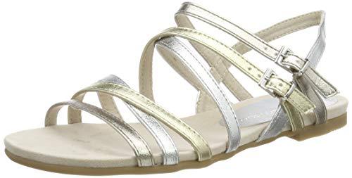 MARCO TOZZI 2-2-28115-22, Sandali con Cinturino alla Caviglia Donna, Multicolore (Metallic Multi 916), 40 EU