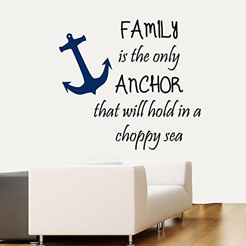 43SabrinaGill Wandaufkleber Zitat Familie ist die nur Anker, nehmen in eine Dynamische Sea Home Vinyl Aufkleber Aufkleber 63,5x 71,1cm