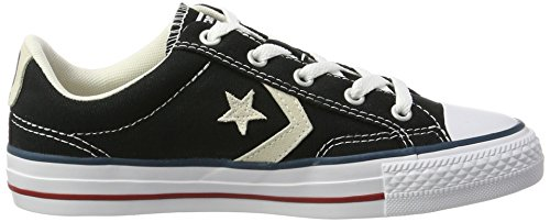 Converse, Star Player Adulte Core Canvas Ox, Sneaker, Unisex - adulto nero (nero)