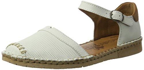Josef Seibel Damen Sofie 19 Geschlossene Sandalen, Weiß (Weiss-Multi), 39 - Damen Sandalen Schuhe Stoff Keil