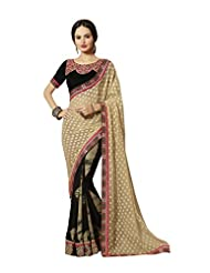 Aarti Latest Fashionable Party Wear Fancy Saree Bridal Embroidery Saree Wedding Wear Free Size - B00VRM6SGA